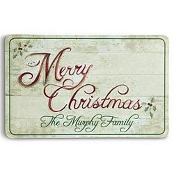 Personalized Festive Merry Christmas Doormat