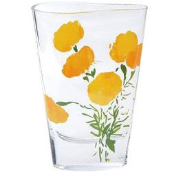 """""""Marigold Twist"""" Glass Vase"""