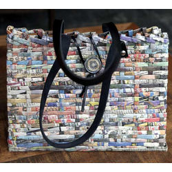 In the News Recycled Paper Handbag