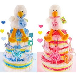 Special Delivery 3 Tier Stork Diaper Cake