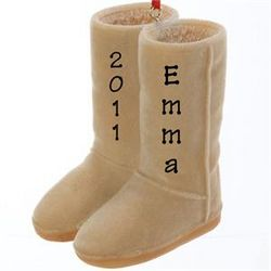 UGG Boots Personalized Christmas Ornament