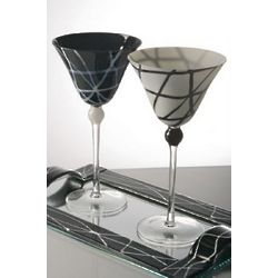 Black and White Martini Glasses