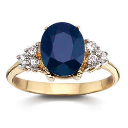 6.5 Carat Sapphire and Cubic Zirconia Ring