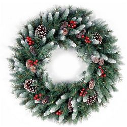 Frosted Berry Christmas Wreath