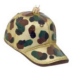 Hunting Cap Christmas Ornament