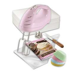 Cupcake Creations Hand Mixer and Decorating Kit