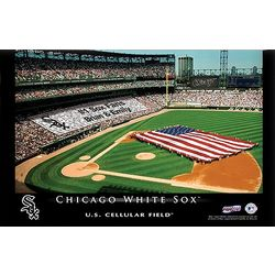Personalized 16x24 Chicago White Sox Stadium Canvas
