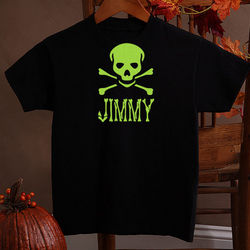 Glow-in-the-Dark Skull Youth T-Shirt