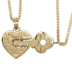 He Who Holds The Key Can Unlock My Heart Breakaway Pendants