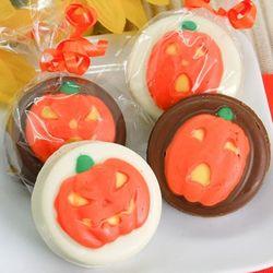 Pumpkins Design Chocolate Covered Oreo Cookies