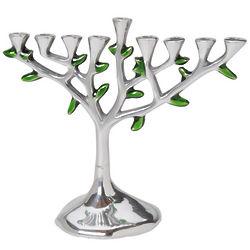 Aluminum Tree of Life Menorah
