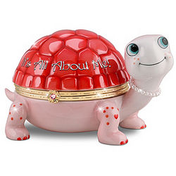 It's All About Me Heirloom Porcelain Turtle Music Box