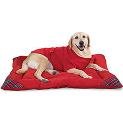 Red Stewart Plaid Pet Bed