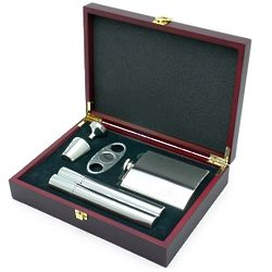 Byrne Flask And Cigar Gift Set