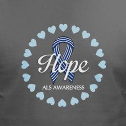 Hope ALS Ribbon and Hearts T-Shirt