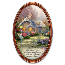 Personalized Thomas Kinkade Family Treasures Collector's Plate