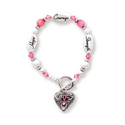Hope, Strength, Courage Bracelet