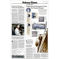New York Times Inside Page Reprint
