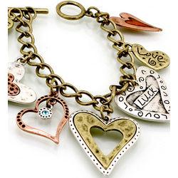 Inspirational Heart Charm Bracelet