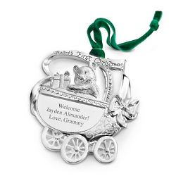 Baby Carriage Christmas Ornament
