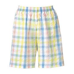 Plaid Seersucker Shorts