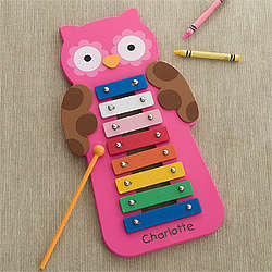Personalized Pink Owl Xylophone