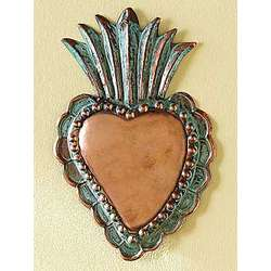 Copper Milagro Heart Wall Hanging