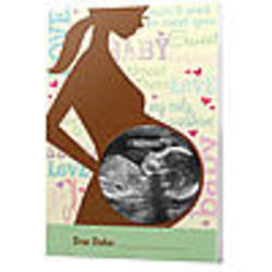 Green Background Sonogram Frame