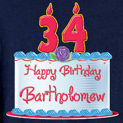 Personalized Happy Birthday T-Shirt