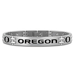 Men's Oregon Ducks Titanium Bracelet