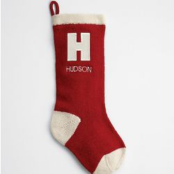 Monogrammed Vintage Red Stocking