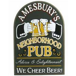 Handcrafted Personalized Neighborhood Pub Sign