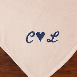Couple's Warmth of Love Cream Personalized Blanket