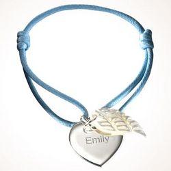 Personalized Angel Wing Bracelet