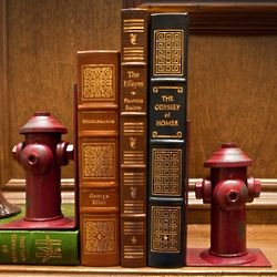 Rustic Fire Hydrant Iron Bookends