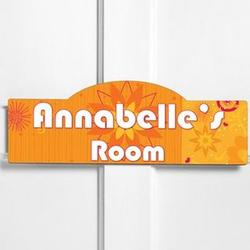 Personalized Orange Blossom Room Sign