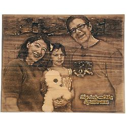 Custom Photo Laser-Engraved Wooden Plaque