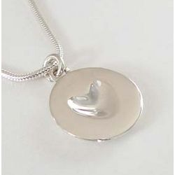 Sterling Silver Melting Heart Necklace