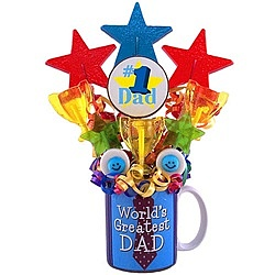 #1 Dad Lollipop Mug