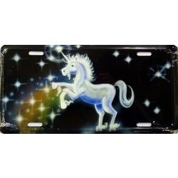 Unicorn License Plate