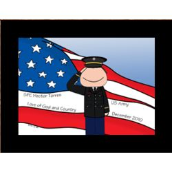Personalized Military Dress Cartoon