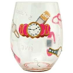 It's 5 O'Clock Somewhere Stemless Wine Glass