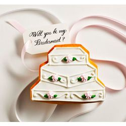 Edible Michelle Bridesmaid Question Cake Cookie Card