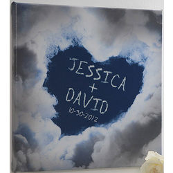 Large On Cloud Nine Romantic Personalized Canvas Art