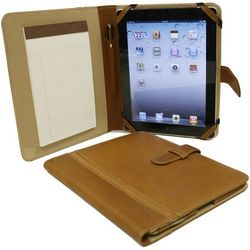 Saddle Piel Leather Junior Padfolio iPad Case