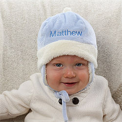 Personalized Winter Baby Hat for Boys