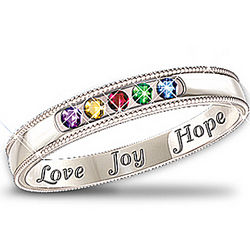 Heartfelt Wishes Sterling Silver Gemstone Ring