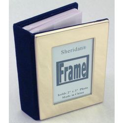 Brass Personalized Insert Mini Photo Album