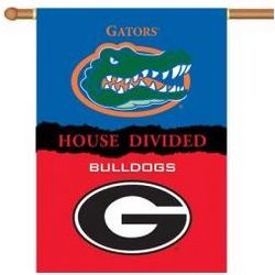 Georgia Florida House Divided 2-Sided Banner