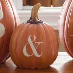 Small Ampersand Halloween Pumpkin